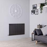 Milano Aruba Electric - Black Horizontal Designer Radiator - 635mm x 1000mm
