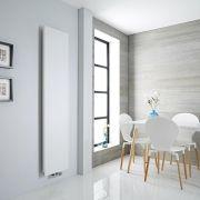 Milano Riso - White Vertical Designer Radiator - 1820mm x 400mm
