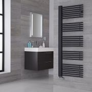 Lazzarini Way Grado - Anthracite Designer Heated Towel Rail - 1600mm x 600mm