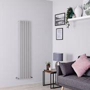 Milano Capri - Silver Flat Panel Vertical Designer Radiator - 1600mm x 354mm