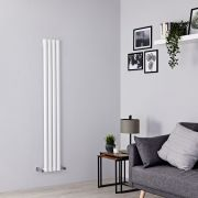 Milano Aruba - White Space-Saving Vertical Designer Radiator - 1600mm x 236mm
