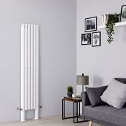 Milano Aruba Plus - White Vertical Designer Radiator - 1800mm x 354mm (Double Panel)