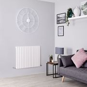 Milano Capri - White Flat Panel Horizontal Designer Radiator - 635mm x 1180mm