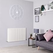 Milano Capri - White Flat Panel Horizontal Designer Radiator - 635mm x 1000mm (Double Panel)