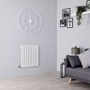 Milano Aruba Electric - White Horizontal Designer Radiator - 635mm x 595mm