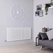 Milano Aruba - White Horizontal Designer Radiator - 635mm x 1411mm