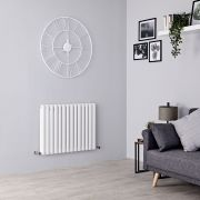 Milano Aruba - White Horizontal Designer Radiator - 635mm x 834mm (Double Panel)