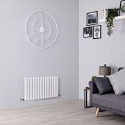 Milano Aruba - White Horizontal Designer Radiator - 400mm x 834mm