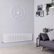Milano Aruba - White Horizontal Designer Radiator - 400mm x 1647mm