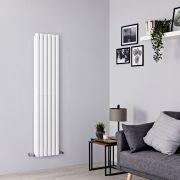 Milano Aruba - White Vertical Designer Radiator - 1500mm x 354mm (Double Panel)