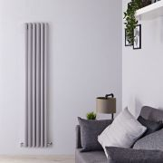 Milano Aruba - Silver Vertical Designer Radiator - 1800mm x 354mm (Double Panel)