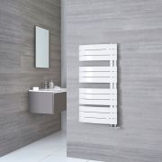 Milano Azore - White Designer Heated Towel Rail - 1080mm x 550mm
