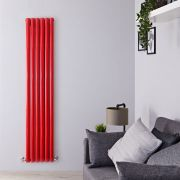 Milano Aruba - Red Vertical Designer Radiator - 1800mm x 355mm (Double Panel)