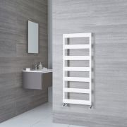 Milano Passo - Aluminium White Designer Heated Towel Rail - 1190mm x 500mm