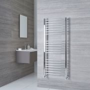Milano Eco - Chrome Curved Heated Towel Rail - 1400mm x 600mm