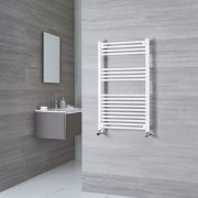 Milano Calder - White Flat Heated Towel Rail - 1000mm x 500mm