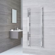 Milano Ribble - Chrome Flat Heated Towel Rail - 1500mm x 600mm