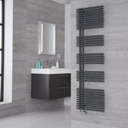 Lazzarini Way Bari - Anthracite Designer Heated Towel Rail - 1700mm x 500mm