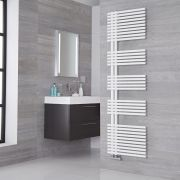 Lazzarini Way Bari - Mineral White Designer Heated Towel Rail - 1700mm x 500mm