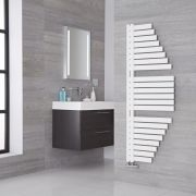 Lazzarini Way Spinnaker - Mineral White Designer Heated Towel Rail - 1460mm x 547mm