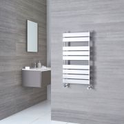Kudox Signelle - Chrome Plated Flat Panel Designer Heated Towel Rail - 950mm x 500mm