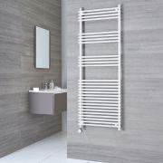 Kudox Harrogate Electric - Flat White Bar on Bar Towel Rail - 1650mm x 450mm