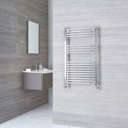 Kudox Ladder - Premium Chrome Curved Heated Towel Rail - 1000mm x 500mm