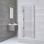 Kudox Ladder - Premium Chrome Curved Heated Towel Rail - 1500mm x 600mm