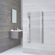 Kudox Ladder - Premium Chrome Flat Heated Towel Rail - 1200mm x 600mm