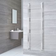 Kudox Ladder - Premium Chrome Flat Heated Towel Rail - 1800mm x 600mm