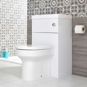 Milano Lurus - White Modern Ballam Toilet and Basin Unit Combination - 500mm x 890mm