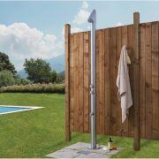 Milano Vigo - Modern Outdoor Shower with Foot Spout - Chrome