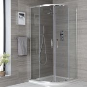 Milano Portland - 900mm Quadrant Shower Enclosure with Slate Tray - Choice of Tray Finish