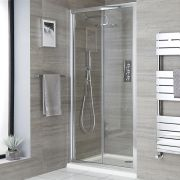 Milano Portland - Recessed Bi-Fold Shower Door with Tray - Choice of Sizes