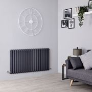 Milano Urban - Anthracite Horizontal Column Radiator - 635mm x 1223mm (Double Column)