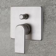 Milano Ashurst - Modern 2 Outlet Manual Shower Valve - Brushed Nickel