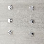 Milano Mirage - Modern Front Fix Pack of 6 Fine Mist Body Jets - Chrome