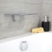 Milano Blade - Modern Wall Mounted Waterfall Bath Filler / Shower Head - Chrome