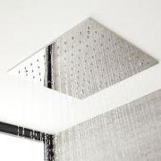 Milano Arvo - Modern 500mm Square Ceiling Head Polished - Chrome