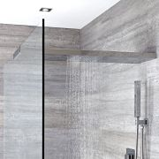 Milano Select - Modern Wall Mounted 900mm Glass-Grabbing Shower Head - Chrome