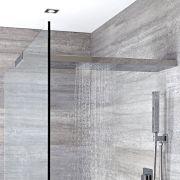 Milano Select - Modern Wall Mounted 1000mm Glass-Grabbing Shower Head - Chrome