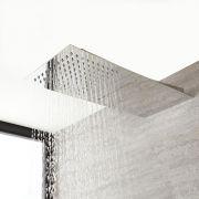 Milano Arvo - Modern Stainless Steel Shower Head with Waterblade - Chrome