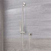 Milano Hunston - Square Shower Slide Rail Kit - Brushed Nickel
