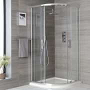 Milano Portland - Chrome Quadrant Shower Enclosure - Choice of Sizes