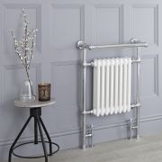 Milano Trent - Traditional Heated Bathroom Towel Radiator Rail - 930mm x 620mm