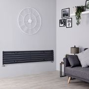 Milano Aruba - Anthracite Horizontal Designer Radiator - 354mm x 1780mm