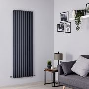 Milano Aruba - Anthracite Vertical Designer Radiator - 1780mm x 590mm (Double Panel)