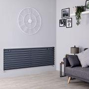 Milano Aruba - Anthracite Horizontal Designer Radiator - 590mm x 1780mm
