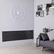 Milano Aruba - Black Horizontal Designer Radiator - 472mm x 1780mm