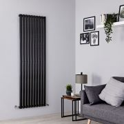 Milano Aruba - Black Vertical Designer Radiator - 1780mm x 590mm